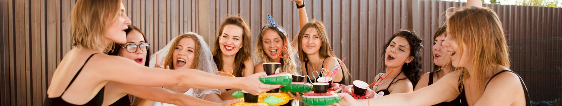 Ladies on a hen party celebrating