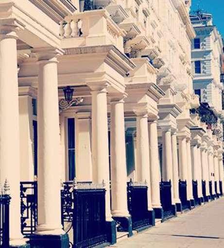 White stone columns on Neville Street buildings. Explore Chelsea Hen Party ideas below: