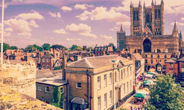 View looking from the castle towards the Lincoln Cathedral. Explore our Lincoln Hen Do Activities
