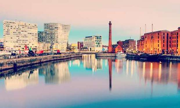 View of the Albert Docks as the sun goes down. Discover Liverpool Hen Party ideas below: